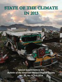 State of Climate in 2013 Cover